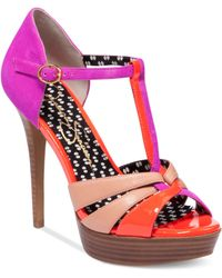 Jessica Simpson Bentley Platform Sandals - Lyst