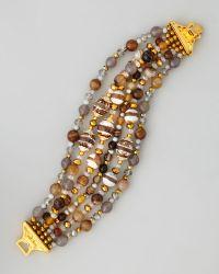 Jose & Maria Barrera - Multistrand Fire Agate Bracelet - Lyst
