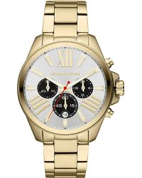 Michael Kors Michael Kors Wren Gold Plated Chronograph Watch - Lyst