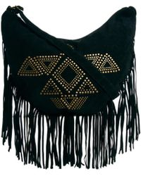 Asos Minkpink Old Faithful Studded Fringed Hobo Bag - Lyst