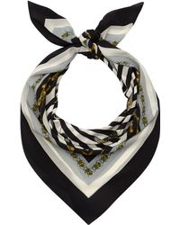 Mother Of Pearl | Black and White Eleanor Silk Scarf | Lyst