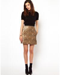 Orla Kiely - Velvet Brocade 60s Skirt - Lyst