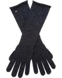 Giorgio Armani Giorgio Armani Long Wool Knit Gloves - Lyst
