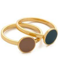 Gorjana Sunset Disc Ring Set gold - Lyst