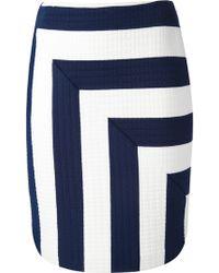 MSGM Msgm Striped Skirt - Lyst