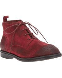 Rundholz - Rundholz Distressed Laceup Boot - Lyst