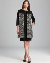 Adrianna Papell - Animal Print Coat - Lyst