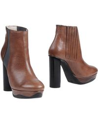 B Store Ankle Boots brown - Lyst