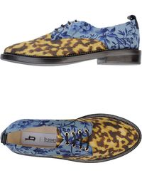 B Store Laced Shoes blue - Lyst