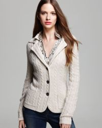 C By Bloomingdale's - Cashmere Cable Blazer - Lyst