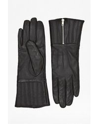 French Connection - Zipped Up Gloves - Lyst