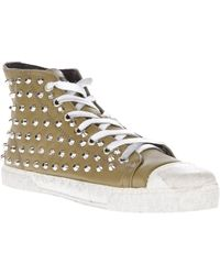 Gienchi Studded Hitop Trainer - Lyst