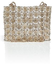 Paco Rabanne Pyramid Bag in Transparent golden Metal - Lyst