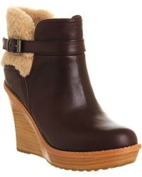 Ugg Anais Wedge Ankle Boot - Lyst
