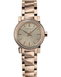Burberry The City Rose Goldplated Watch Gold - Lyst