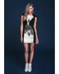 Finders Keepers Burning Ground Cap Sleeve Mini Dress - Lyst