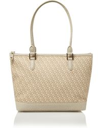DKNY Coated Logo Tote Bag - Lyst