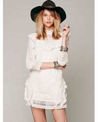 Free People Womens Victor Victorian Dress - Lyst