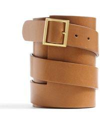 Kule Wide Leather Cuff - Lyst