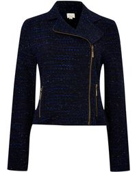 Linea Weekend - Ladies Boucle Biker Jacket - Lyst