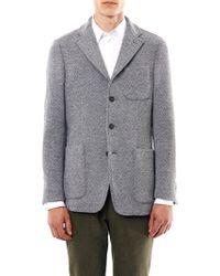 Rake | Single Breasted Textured Wool Blazer | Lyst