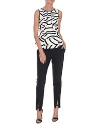 Tibi Zebra Maze Sleeveless Top - Lyst