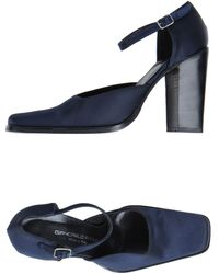 D&G Blue Closedtoe Slipons - Lyst