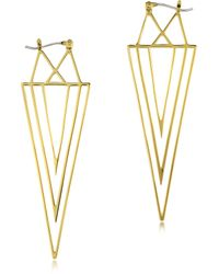 Juicy Couture - Gold Spike Linear Earring - Lyst