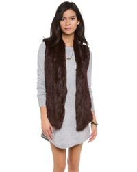 June Knit Fur Vest - Lyst