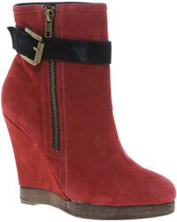 House Of Harlow 1960 Ravel Leather Shoe Boot with Buckle Detail - Lyst