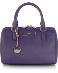 DKNY Small Purple Saffiano Leather Satchel - Lyst
