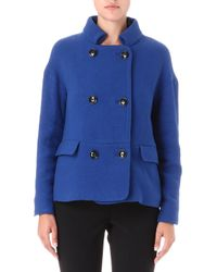 French Connection Cool Coating Wool Blend Coat - Lyst