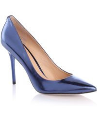 Guess Plasma Laminated Court Shoe - Lyst