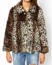 Jarlo Leopard Faux Fur Jacket - Lyst