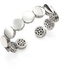 John Hardy Sterling Silver Dot Cuff Bracelet silver - Lyst