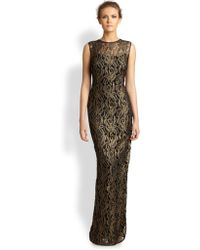 Kay Unger Embroidered Gown - Lyst