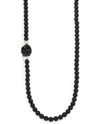 King Baby Studio Onyx Bead Necklace - Lyst