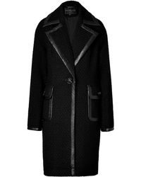 Rachel Zoe Maxwell Coat in Black - Lyst