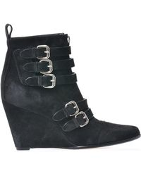 Tabitha Simmons Harley Suede Ankle Boots black - Lyst