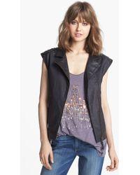 Trouvé Trouvé Studded Leather Trim Vest - Lyst