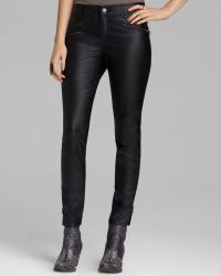 Free People Pants - Stretch Faux Leather Skinny - Lyst