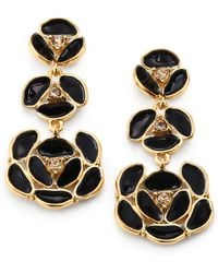 Kate Spade Enamel Pansy Drop Earrings - Lyst