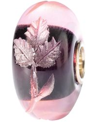 Trollbeads - Engraved Leaf Glass Bead - Lyst