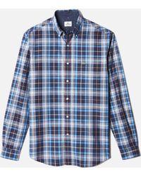 Lacoste Chine Check Poplin Mens Woven Shirt - Lyst