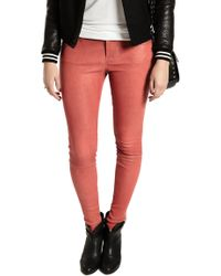 Current/Elliott The Ankle Skinny Blood Leather - Lyst