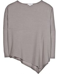 Helmut - Asymmetric Jersey Sweater - Lyst