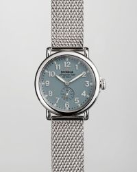 Shinola 41mm Runwell Meshbracelet Watch Blue - Lyst