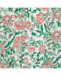 Tucker - Floral Print Silk Trousers - Lyst