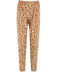Tucker - Leopard Print Stretch Silk Trousers - Lyst
