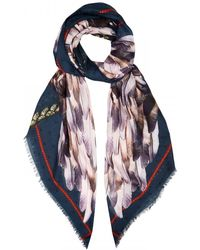 Vassilisa - Wing Print Modal and Cashmere Blend Scarf - Lyst